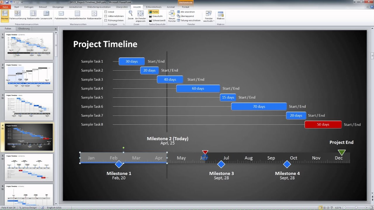 how to make a timeline on excel