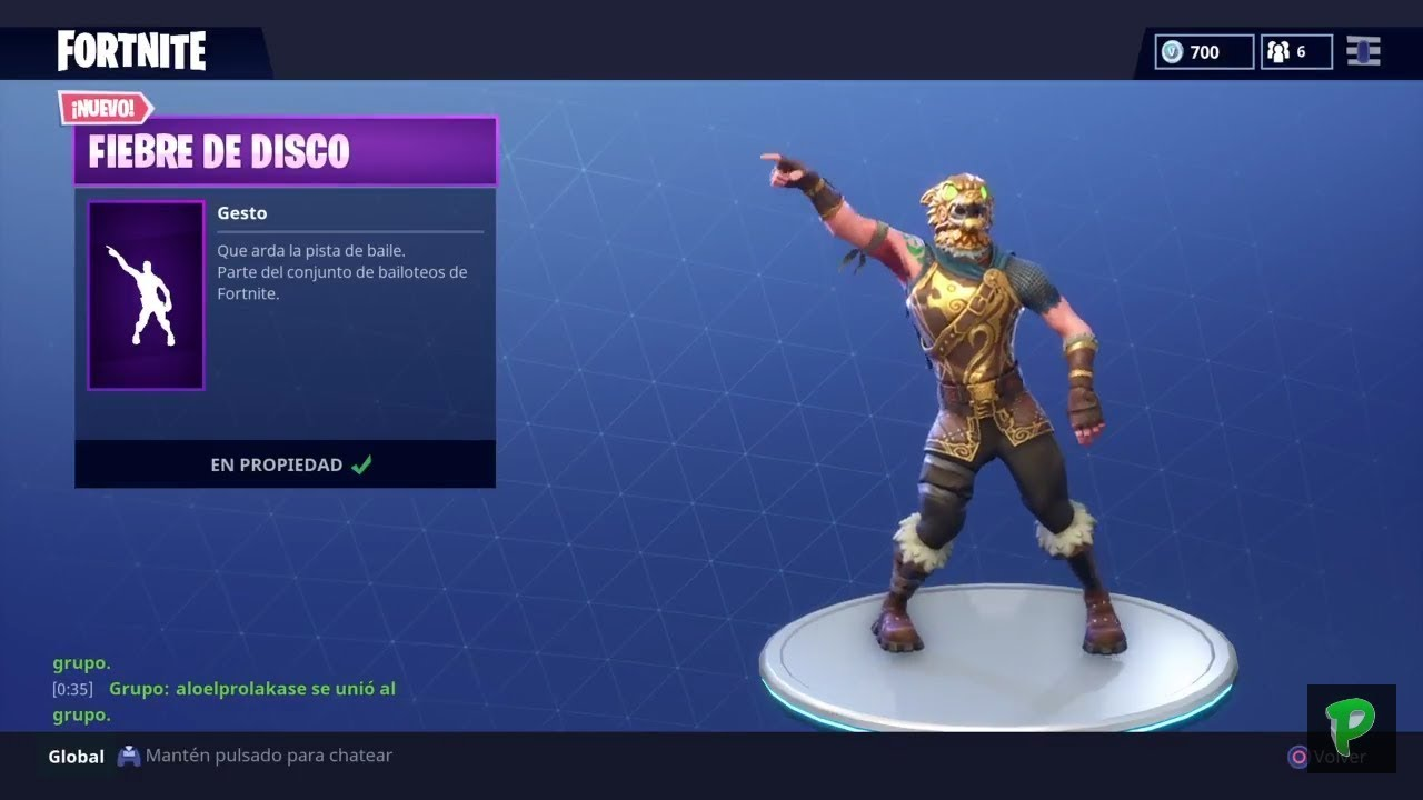 Nuevo Baile Fiebre De Disco Fortnite Battle Royale Youtube
