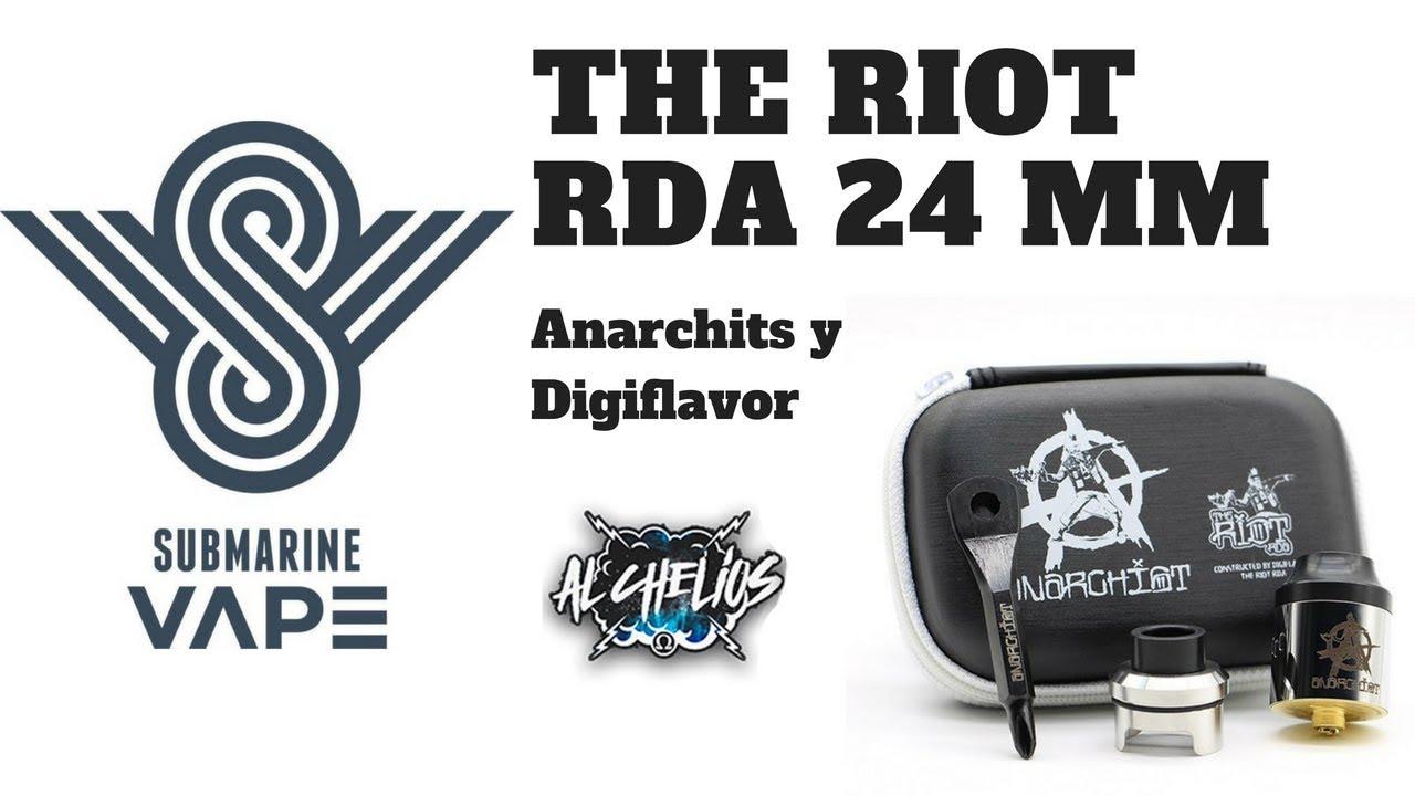 The Riot RDA Anarchist y Digiflavor Submarine Vape Shop