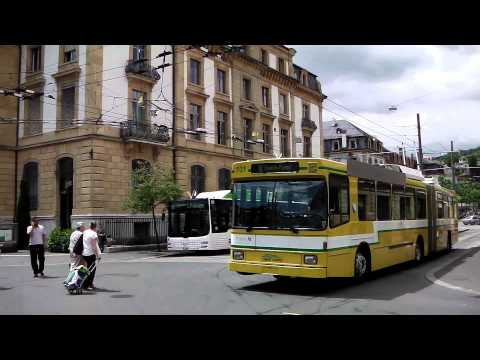 Trolley Buses, Neuchatel, Switzerland