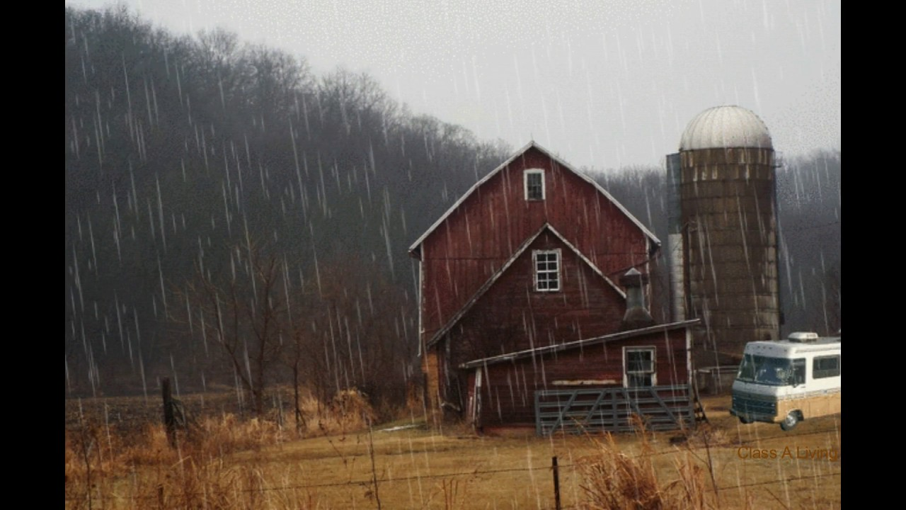 Rain On Barn Ambience White Noise Youtube