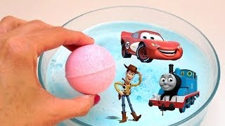 Thomas and Friends Cars 2 Toy Story 3 Bath Balls Bath Bomb Bubble Bath Powder Soap