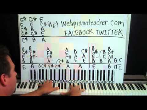 Bright Lights Piano Lesson part 1 Matchbox 20