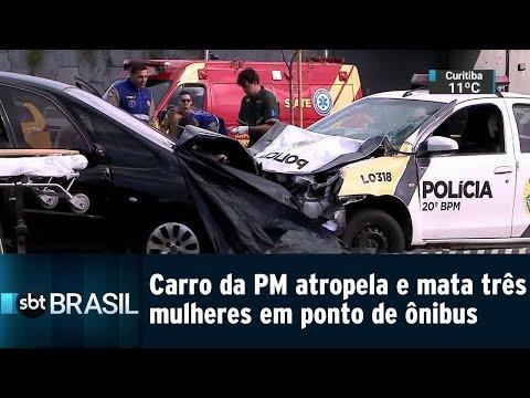 Carro da PM atropela e mata três mulheres em ponto de ônibus no PR | SBT Brasil (31/07/18)