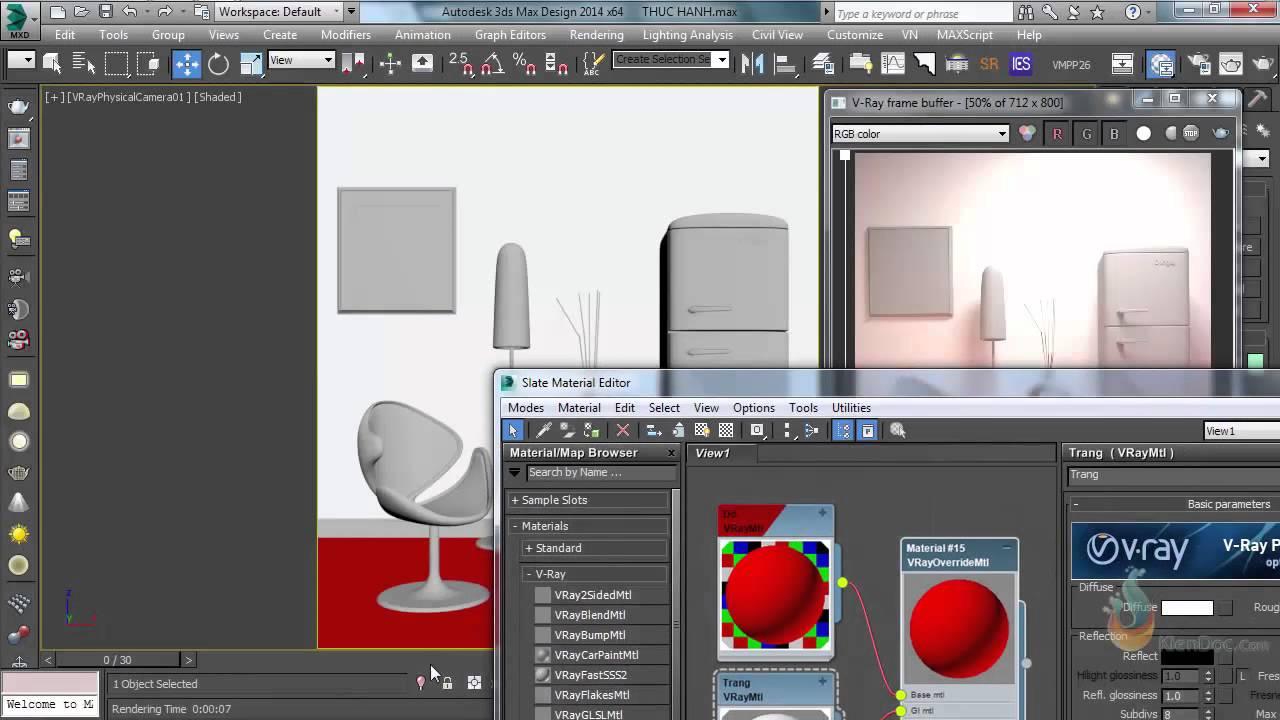 Loại bỏ ánh sáng ám màu sau khi render trên 3Dsmax