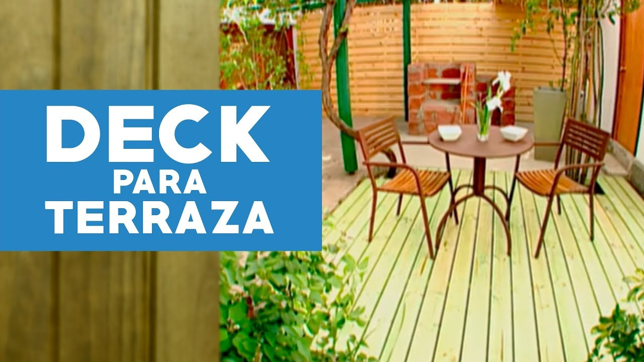 C mo hacer un deck para la terraza youtube for Dec para terrazas