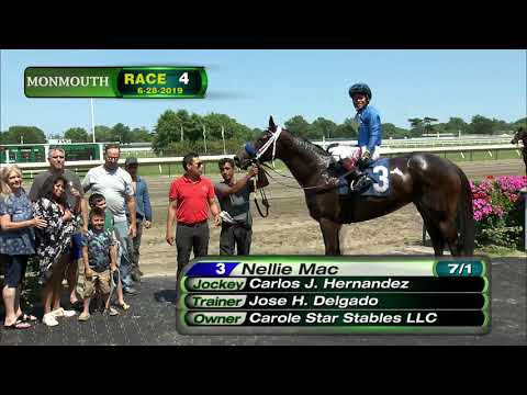 video thumbnail for MONMOUTH PARK 6-28-19 RACE 4