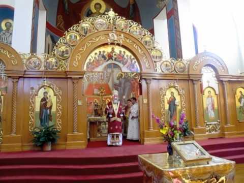 Bishop Longin at St. Sava Merrillville