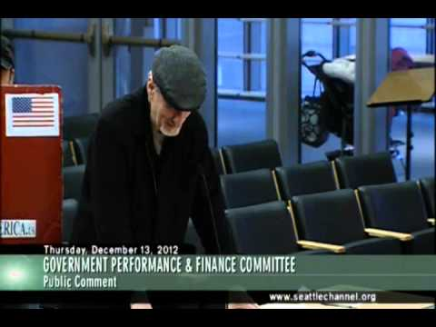 Seattle - Government Performance and Finance Committee - Stand UP America speech