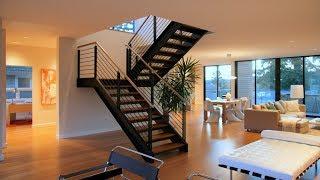 Как сделать двух маршевую лестницу в доме. Своими руками