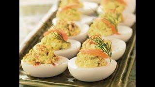 Яйца фаршированные авокадо