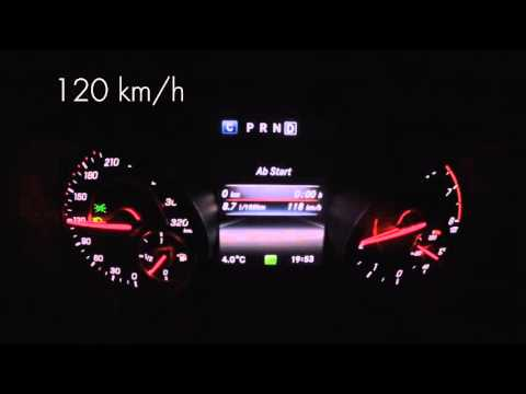 Mercedes-AMG A45 fuel consumption / Verbrauch constant speed