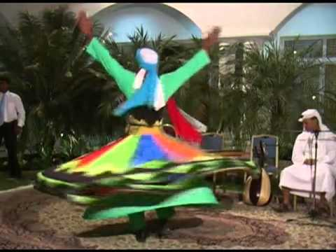 Performing an Arab whirling dance, United Arab Emirates
