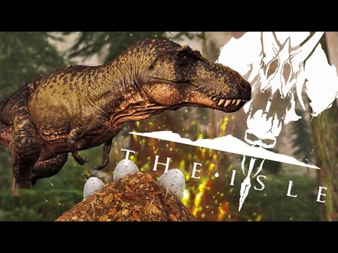Mother T-Rex Nesting On The Tyrant Island - The Isle