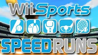Playing Sports In Honor of 'Merica | Wii Sports SpeedRuns (All Sports%)