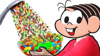 Turma da Mônica - Mônica  Cebolinha no chuveiro mágico de M&M's e doces - Lucas Rocha Kids - lições
