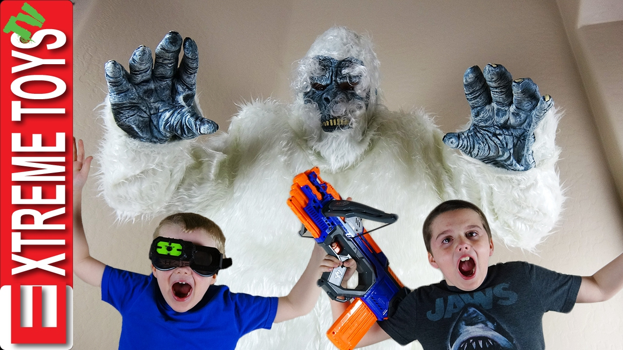 Download Yeti Monster Attack! The Boys Battle the Wild Bigfoot Creature with Nerf Crossbolt and Night Vision.