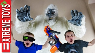 Yeti Monster Attack! The Boys Battle the Wild Bigfoot Creature with Nerf Crossbolt and Night Vision.