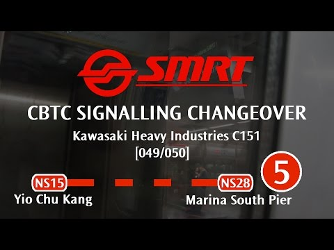 SMRT North South Line - CBTC Signalling Changeover (Yio Chu Kang → Marina South Pier)
