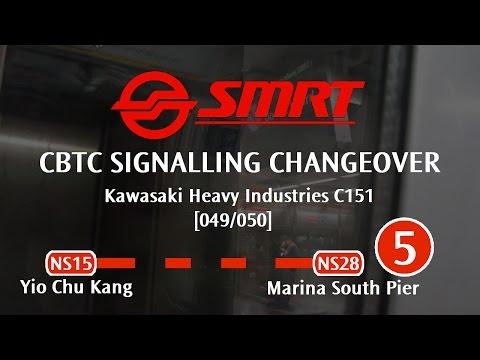 SMRT North South Line - CBTC Signalling Changeover (Yio Chu Kang → Marina South Pier)