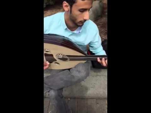 Saudi Arabian musician playing the laud
