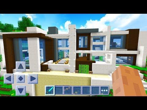 WORLDS BIGGEST MINECRAFT POCKET EDITION HOUSE!