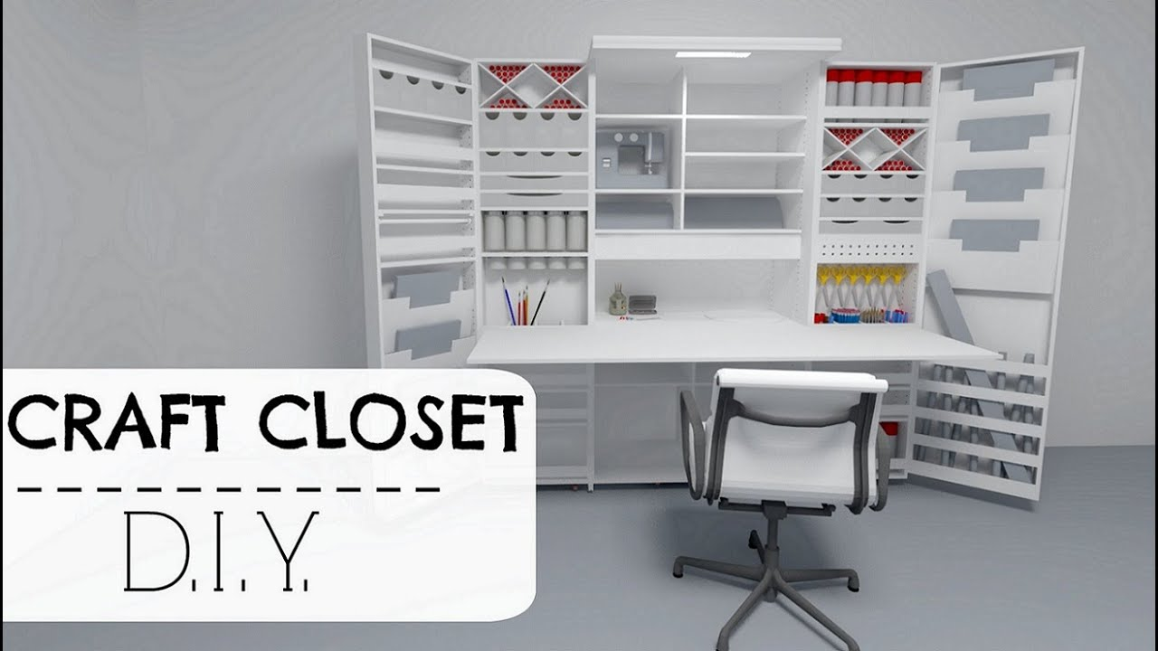 craft dual door ideas white utility closet wall elfa closets racks with design shelving inspiration hobby for