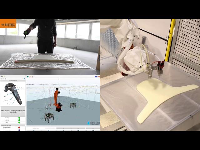 Cella robotizzata per la spruzzataura della colla - Robotized glue spreading cell