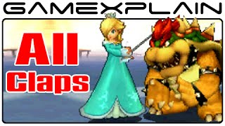 Smash Bros 3DS: All Clapping Animations (No Contest Screen)