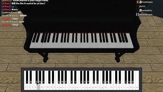 roblox piano lessons
