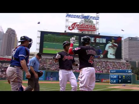TOR@CLE: Brantley smacks two-run home run to center