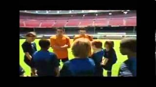 Las clases del Barça con Xavi e Iniesta parte 1