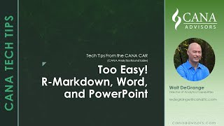 Too Easy R Markdown Word and Powerpoint