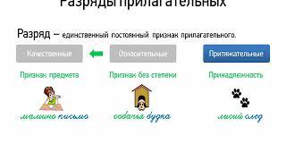 Разряды прилагательных (6 класс, видеоурок-презентация)