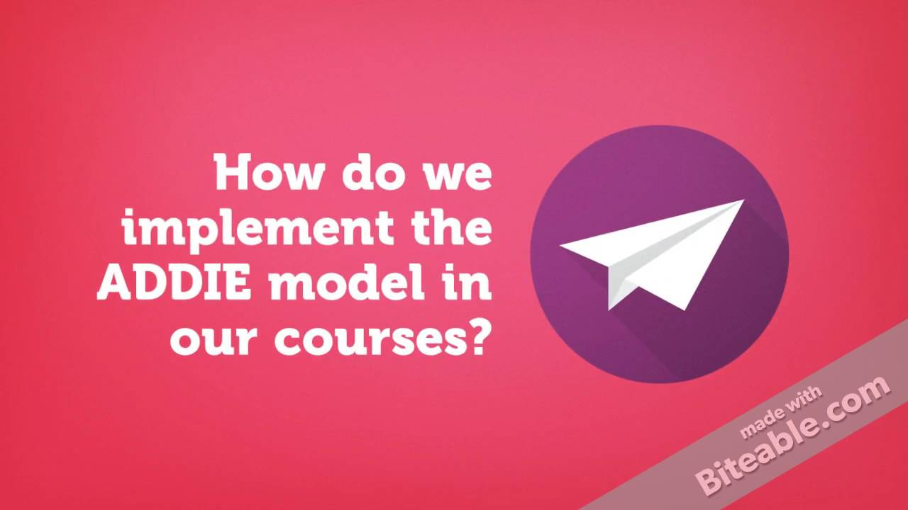 Mooc Topic 2b Instructional Design Models And The Addie Model