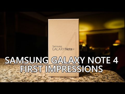Samsung Galaxy Note 4 Unboxing and First Impressions!
