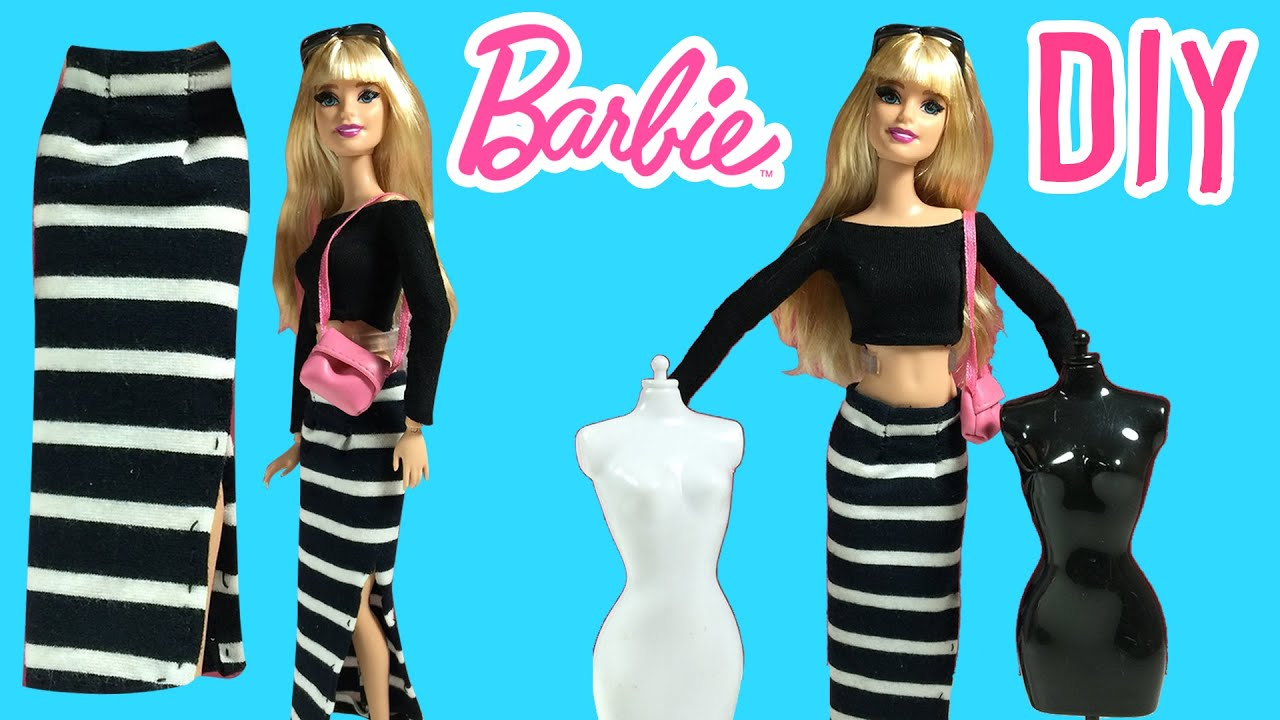 Diy how to make barbie doll long skirt barbie clothes tutorial diy how to make barbie doll long skirt barbie clothes tutorial making kids toys youtube solutioingenieria Choice Image