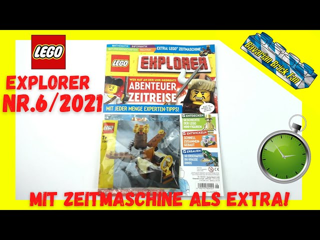 LEGO Explorer Magazin Nr.6/2021 mit Zeitmaschine (11947) als Extra!  Review+Unboxing deutsch