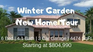Winter Garden Florida New Home For Sale Property Tour  Mansfield Model by Lennar Homes  805K