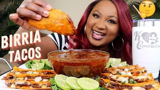 BIRRIA TACOS MUKBANG 먹방쇼 , TRYING BIRRIA TACOS FOR THE FIRST TIME