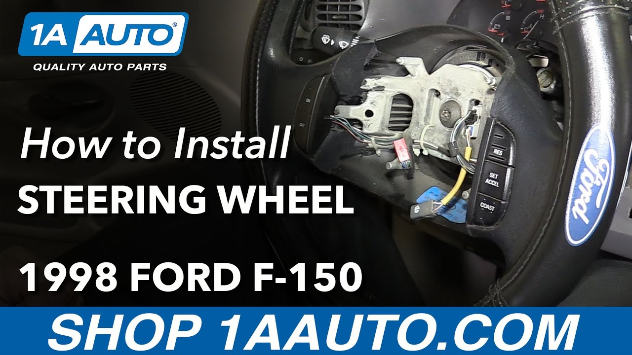 how to replace steering wheel 1998 ford f 150 [ 1280 x 720 Pixel ]