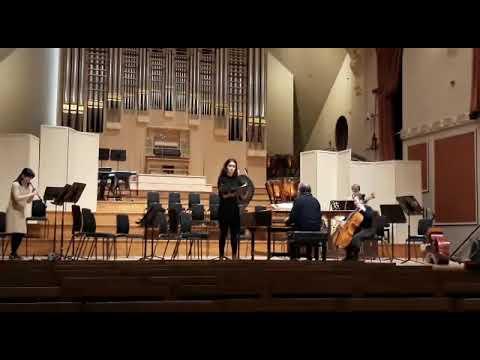 Ensayo de la mezzosoprano lucense Julia Martínez