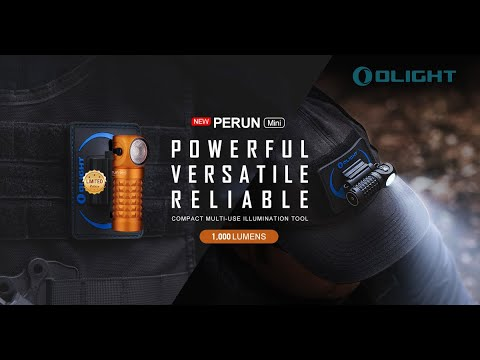 Senter Olight Perun Mini Multifungsi 1000 Lumens Flashlight LED Rechargeable