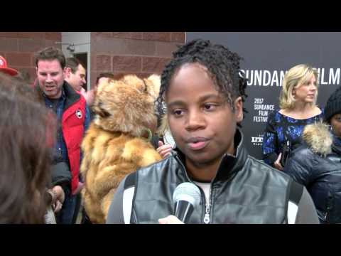 Director Dee Rees directs the cast of 'Mudbound' and chats on the red carpet. Sundance 2017'