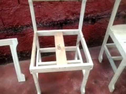 Cadeira Artesanal Feita Com Madeira De Pallet Youtube