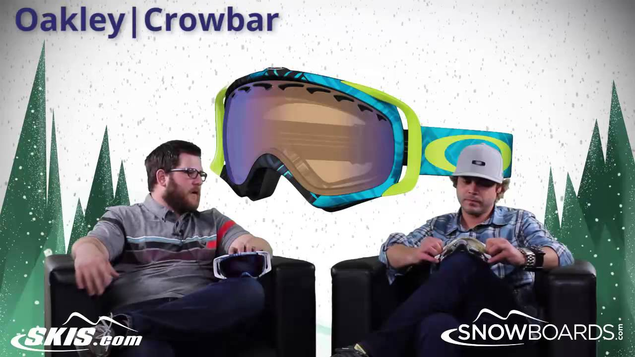 51169c1a38e 2017 Oakley Crowbar Goggle Overview by SkisDOTcom and SnowboardsDOTcom -  YouTube