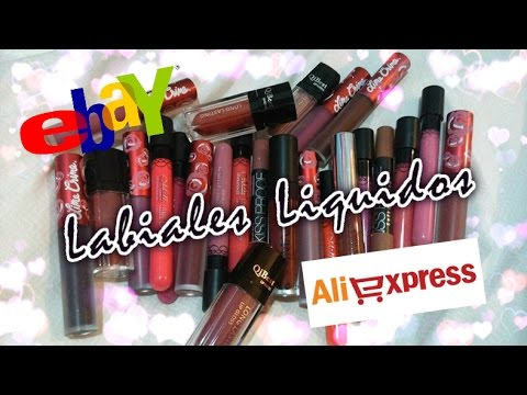 ❤ LABIALES LÍQUIDOS DE EBAY Y ALIEXPRESS ❤ | Review