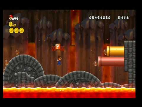 New Super Mario Bros Wii How To Unlock World 8 7 All Star Coins