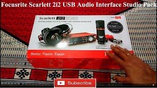 Focusrite Scarlett 2i2 Usb Interface Audio Studio Pack Review Hindi