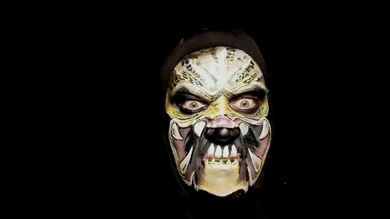 PREDATOR Make up/ Face paint: Get to Da Choppa!!!! - YouTube